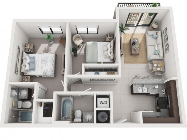 2 Bedroom Floorplan | Soleste West Gables 5