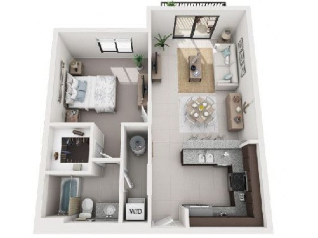 1 Bedroom Floorplan | Soleste West Gables