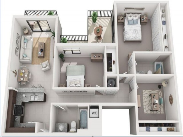 2 Bedroom Floorplan | Soleste West Gables 2