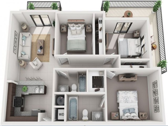 3 Bedroom Floorplan | Soleste West Gables