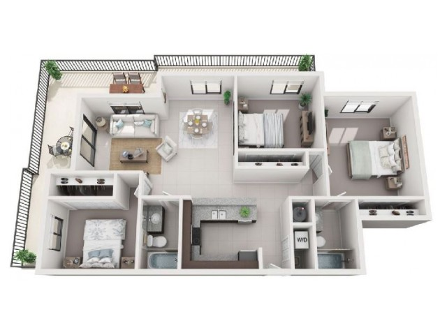3 Bedroom Floorplan | Soleste West Gables 2