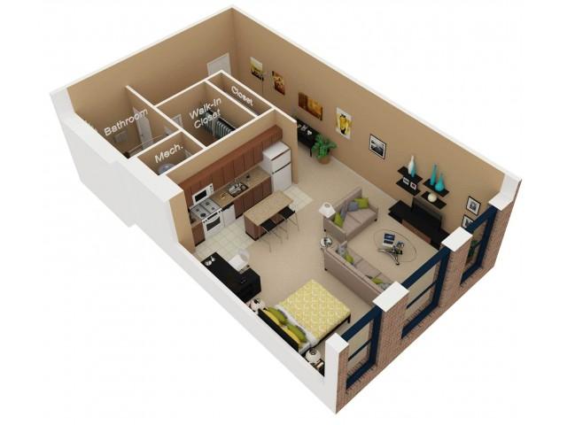 Floor Plan 1   Luxury Apartments In Chicago   Cobbler Square Lofts
