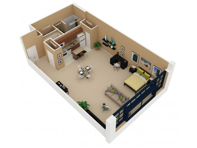 Floor Plan 3   Chicago 2 Bedroom Apartments   Cobbler Square Lofts