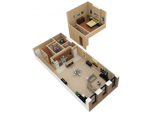 Floor Plan 4   Apartments For Rent In Chicago   Cobbler Square Lofts