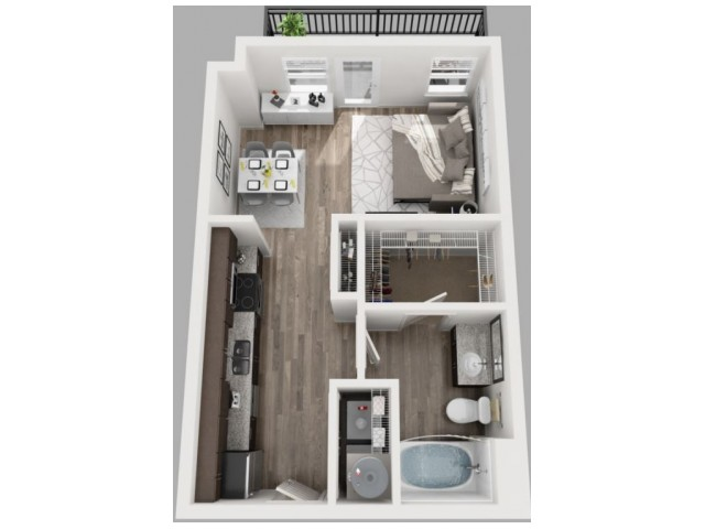 Floor Plan 2 | Apartments In Dallas | South Side Flats
