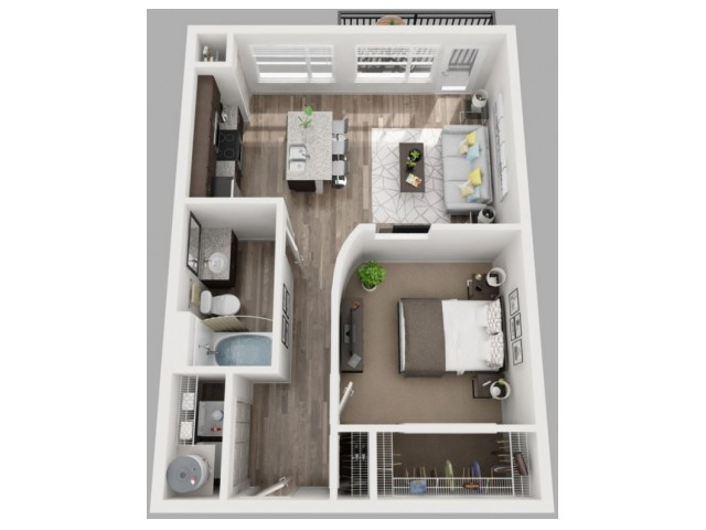 Floor Plan 3 | Apartments Dallas TX | South Side Flats