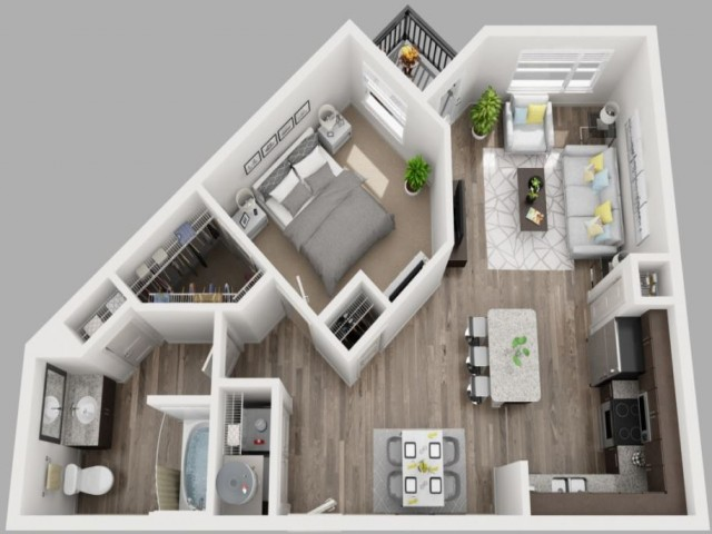 Floor Plan 5 | Downtown Dallas Apartments | South Side Flats