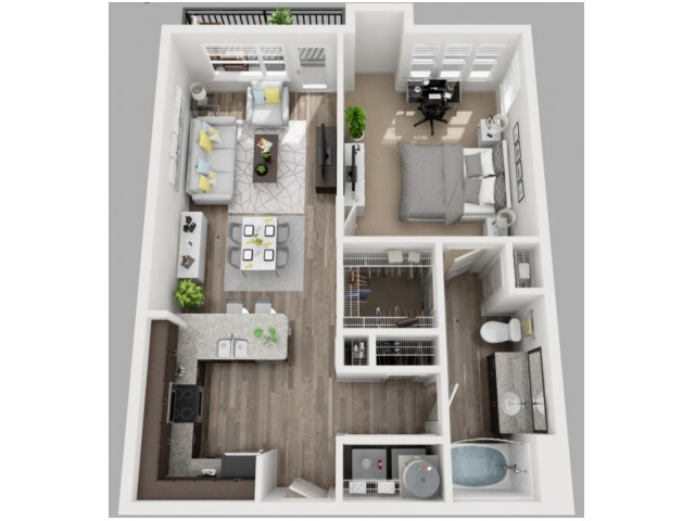 Floor Plan 6 | Dallas Luxury Apartments | South Side Flats