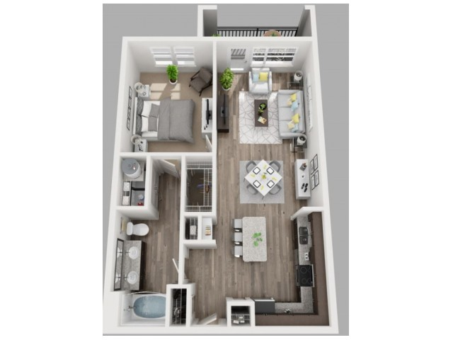 Floor Plan 7 | Apartments In Dallas | South Side Flats