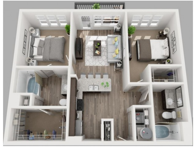 Floor Plan 9 | Luxury Apartments In Dallas TX | South Side Flats