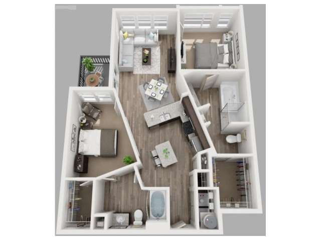 Floor Plan 10 | Downtown Dallas Apartments | South Side Flats