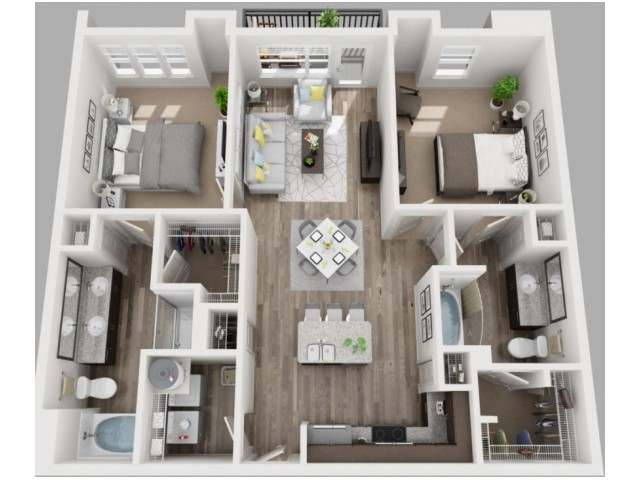 Floor Plan 11 | Dallas Luxury Apartments | South Side Flats