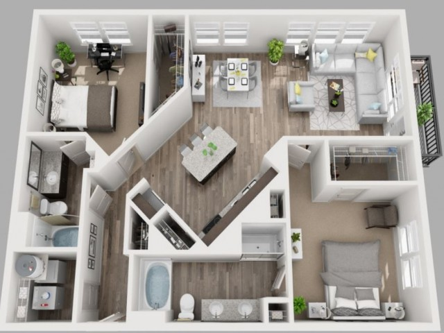 Floor Plan 12 | Apartments In Dallas | South Side Flats