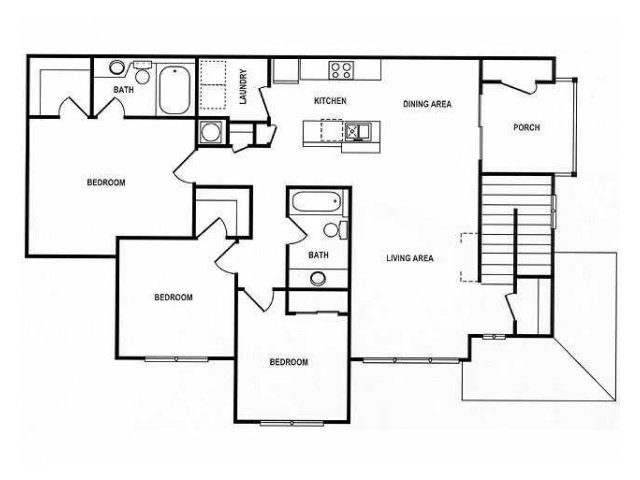 3 Bedroom Floor Plan | Spotswood Commons