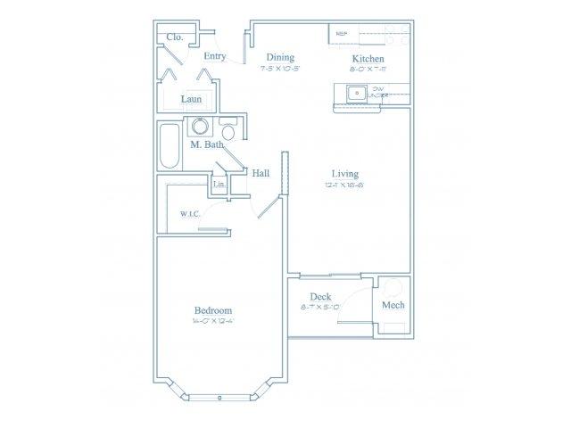 Floor Plan 1 | Apartments In Bedford MA | Heritage at Bedford Springs