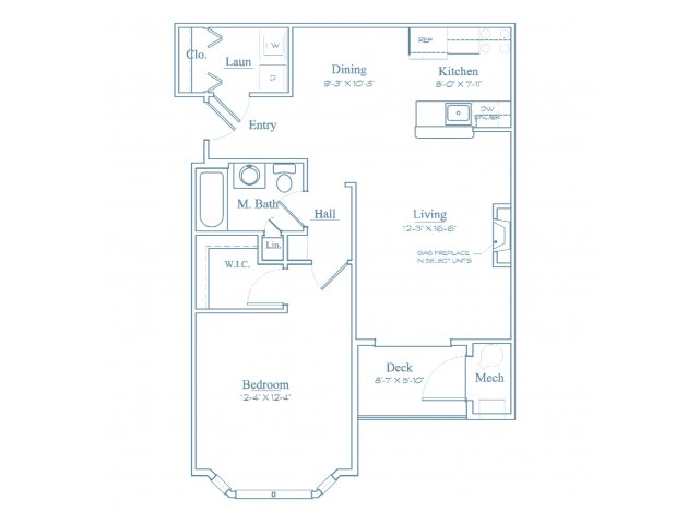 Floor Plan 2 | Luxury Apartments In Burlington MA | Heritage at Bedford Springs