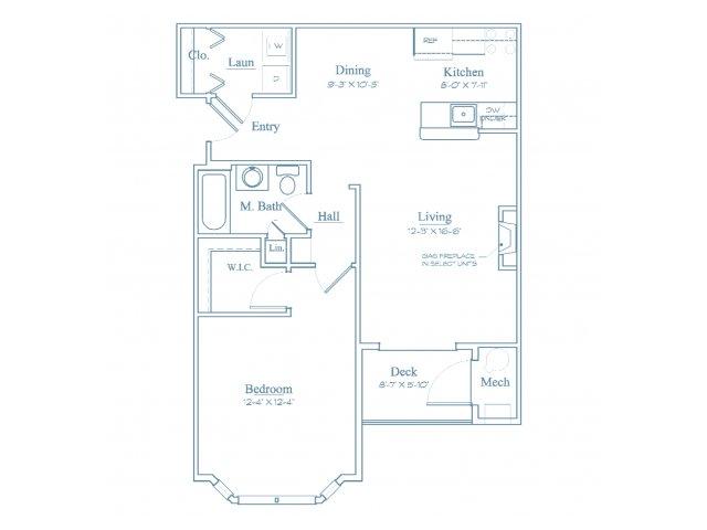Floor Plan 2 | Luxury Apartments In Burlington MA | Heritage at Bedford Springs