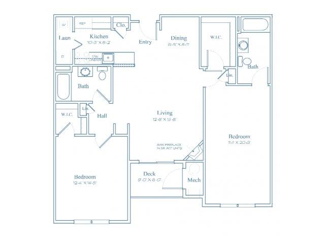 Floor Plan 6 | Apartments In Bedford MA | Heritage at Bedford Springs