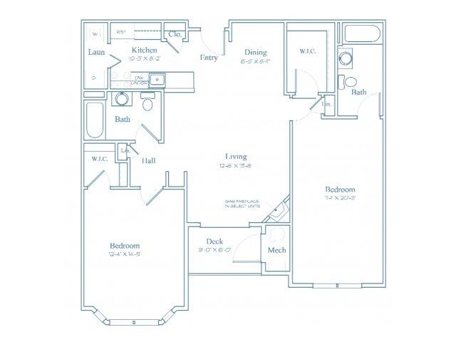 Floor Plan 7 | Luxury Apartments In Burlington MA | Heritage at Bedford Springs