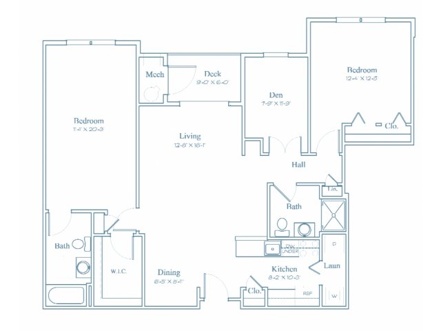Floor Plan 8 | Apartments Burlington MA | Heritage at Bedford Springs