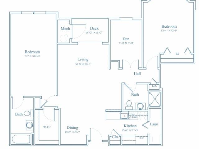 Floor Plan 9 | Bedford Massachusetts Apartments | Heritage at Bedford Springs