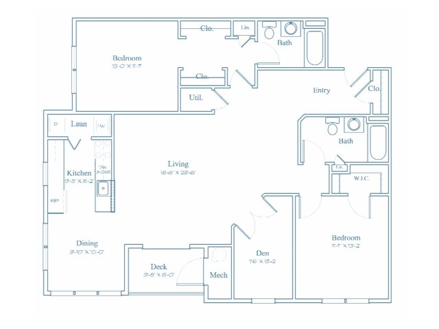 Floor Plan 10 | Apartment For Rent In Bedford MA | Heritage at Bedford Springs