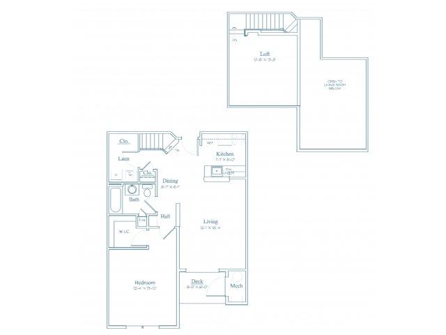 Floor Plan 3 | Apartments Burlington MA | Heritage at Bedford Springs