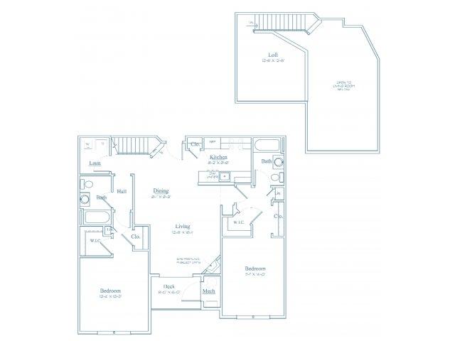 Floor Plan 11 | Apartments In Bedford MA | Heritage at Bedford Springs