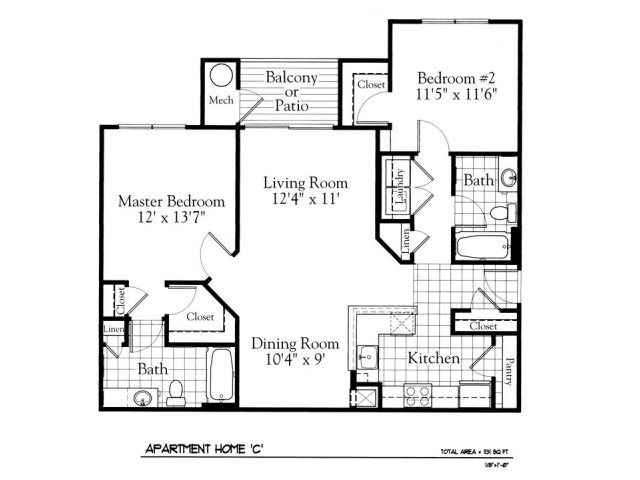 Floor Plan 3 | The Gates of Owings Mills