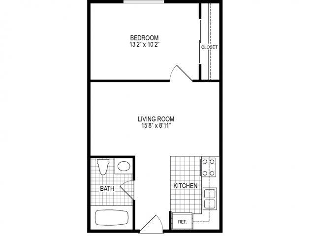 Junior One Bedroom · Northgate Apartments