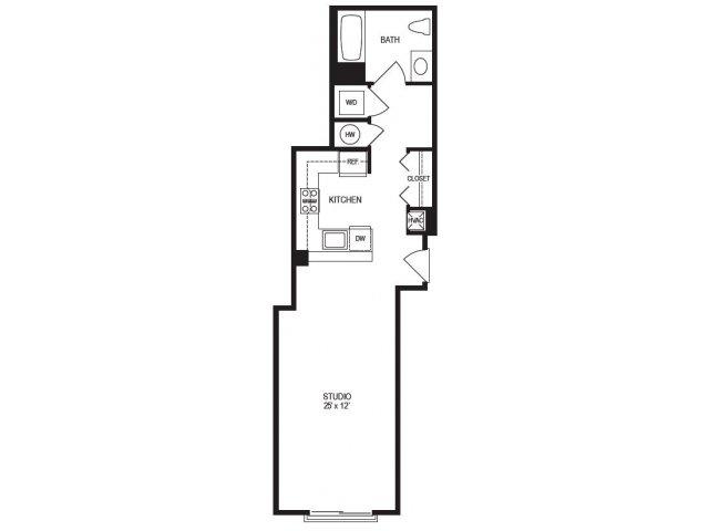 Studio Floor Plan | Rumney Flats 2