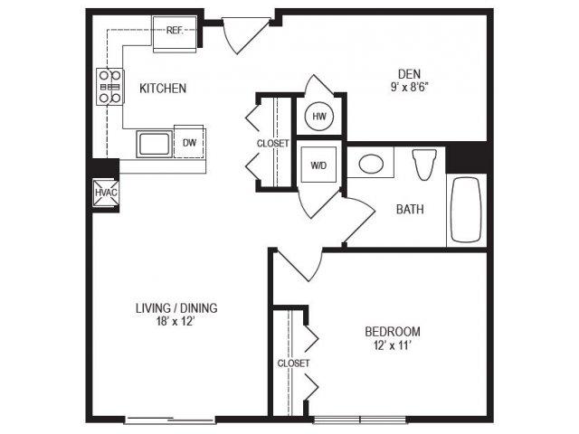 1 Bedroom Floor Plan | Rumney Flats 2