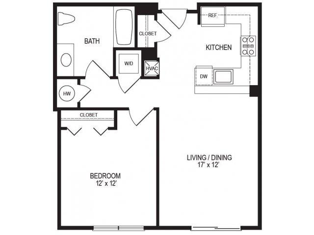1 Bedroom Floor Plan | Rumney Flats 4