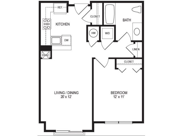 1 Bedroom Floor Plan | Rumney Flats 7
