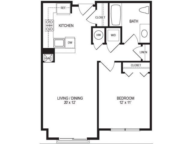 1 Bedroom Floor Plan | Rumney Flats 7