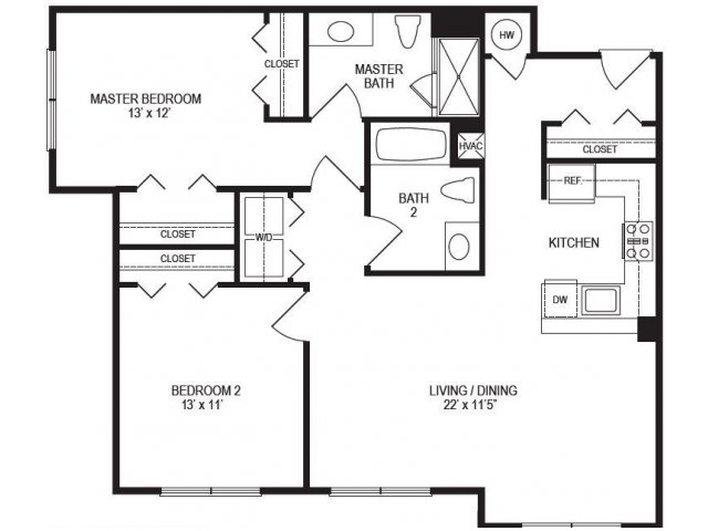 2 Bedroom Floor Plan | Rumney Flats 5
