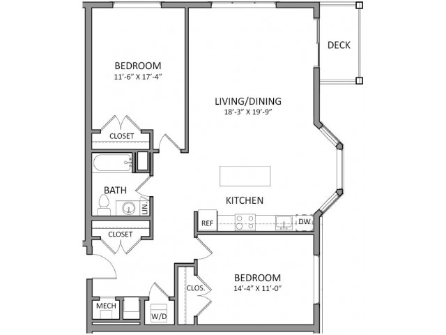 Floor Plan 1 | Luxury Beverly MA Apartments | The Flats at 131