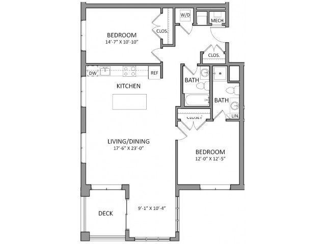 Floor Plan 2 | Luxury Apartments in Beverly MA | The Flats at 131