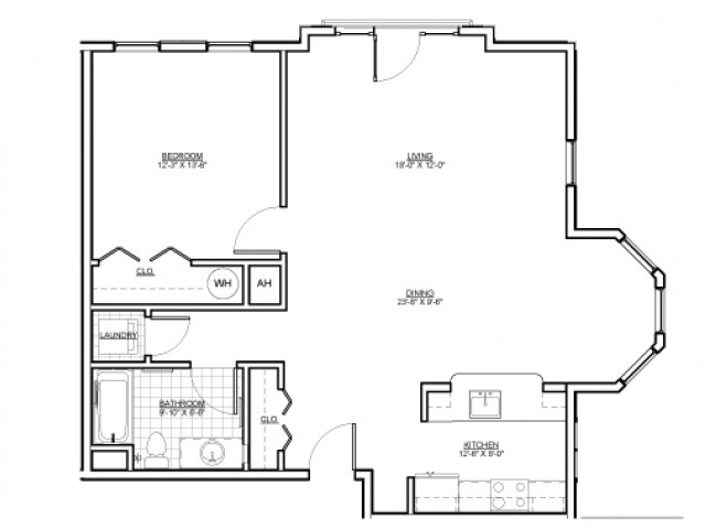 Floor Plan 4 | Luxury Apartments Malden MA | Wellington Parkside