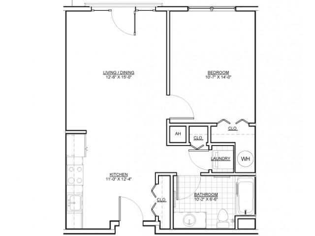 Floor Plan 5 | Apartments Chelsea MA | Wellington Parkside