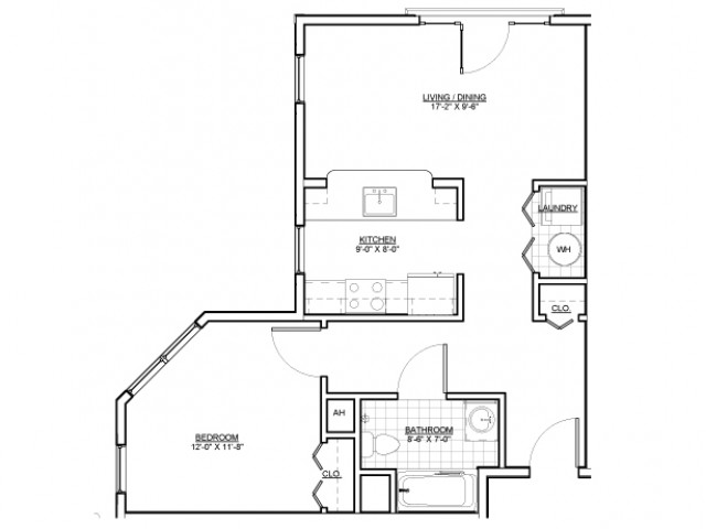 Floor Plan 6 | Apartments Everett MA | Wellington Parkside
