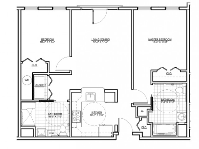 Floor Plan 14 | Luxury Apartments Malden MA | Wellington Parkside