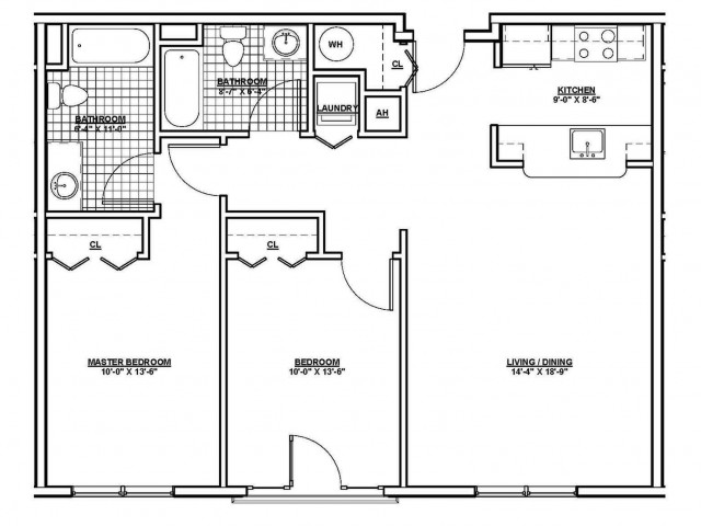Floor Plan 15 | Apartments Chelsea MA | Wellington Parkside