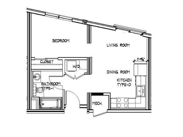 Floor Plan 9 | Apartments Allston | Trac 75