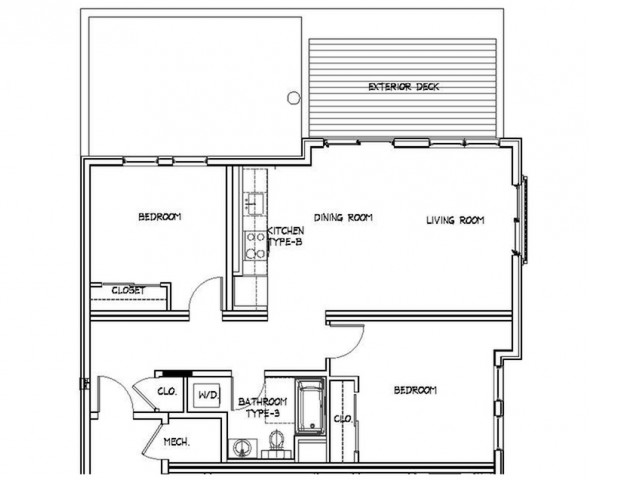 Floor Plan 13 | Luxury Apartments In Allston MA | Trac 75