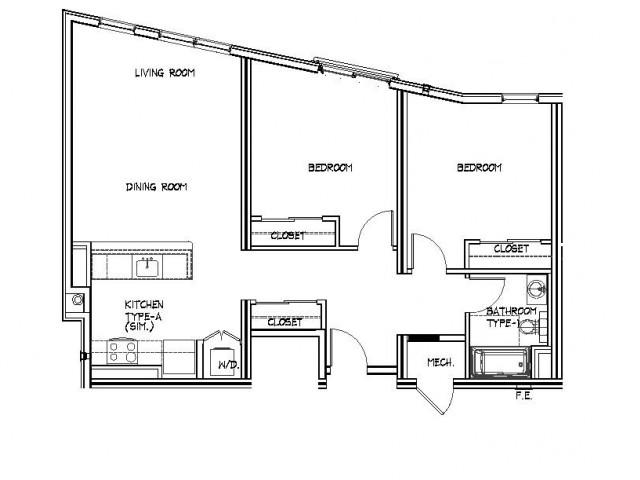 Floor Plan 17 | Allston Apartments Boston | Trac 75