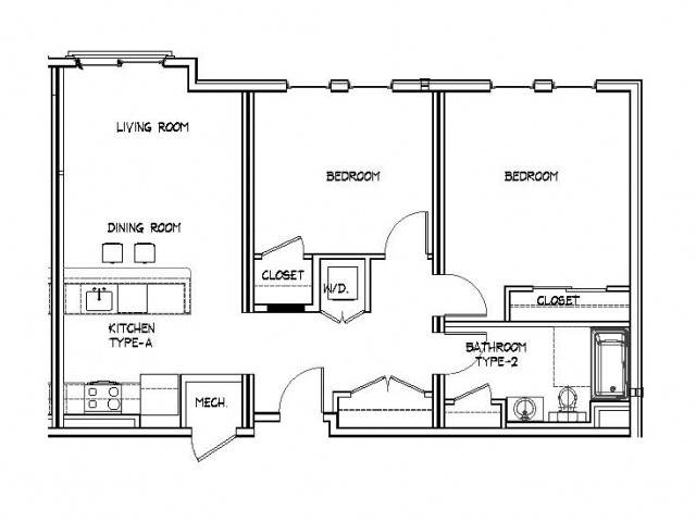 Floor Plan 18 | Apartments In Allston MA | Trac 75