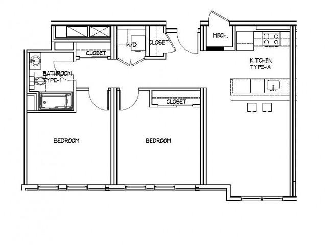 Floor Plan 19 | Apartments Allston | Trac 75