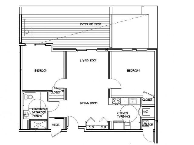 Floor Plan 22 | Allston Studio Apartments | Trac 75