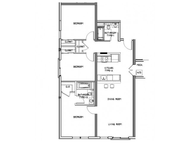 Floor Plan 23 | Luxury Apartments In Allston MA | Trac 75